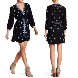 Free People Stargazer Embroidered Mini Dress Sz M